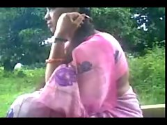 Daring Desi Aunty Strokes Uncles Phallus Outside in the Park