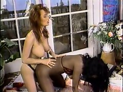 English whore Vida Garman uses her strap-on in lezzy execution