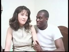 Hirsute Sensual japanese Mommy Grinded by Bbc