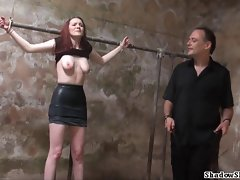 Obscene slaveslut whipping and obscene dungeon tortures