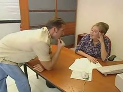 Office Worker Analed By Delivery Man