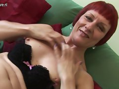 Older English redhead slutty mom with little tiny breasts