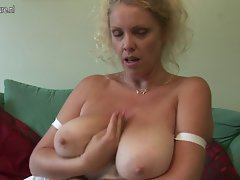 HUGE titted English slutty mom dreaming of 18yo penis