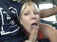 Mommy dick sucking in the car