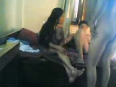 Sensual indian lads banging aunty 3some video