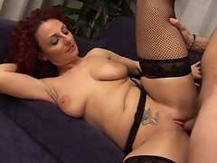 Sensual redhead experienced Filthy big titted momma
