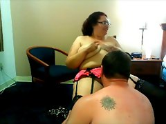 Big beautiful woman fingered by her husband