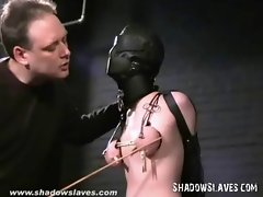 Slavegirl Cherry Torn hooded and muff tortured in extreme
