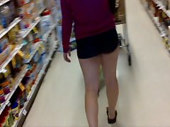 Naughty bum Shorts Wench Make Shopping Fun