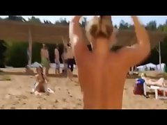 Naked Chesty Sensual russian Wench on the Beach