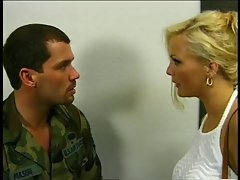 The lovely Stacy Valentine and a pilot have sex in a bar
