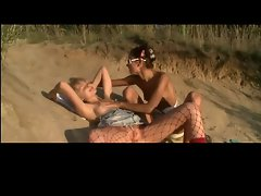 Sizzling teen Lesbos on the Beach