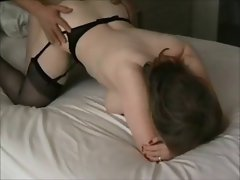 Attractive mum on passionate homemade sextape
