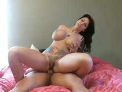 Big titted inked Chick Is Banged In The Butt On Cam