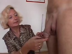 Italian Granny find enjoyment in 2 phalluses
