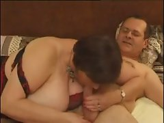 French Big beautiful woman in a Kinky Crazy threesome action