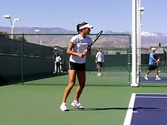 Ana Ivanovic lewd short in training