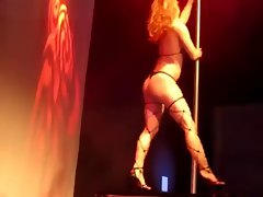 Western Burlesque Striptease by Tall Anglo-Nordic Blondie