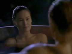 Asian Tia Carrere goes for Dolph Lundgrens Big Blond Pecker