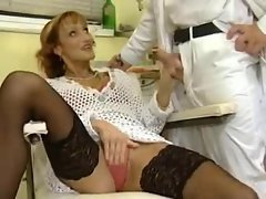Explicit orgy with fisting in dental clinic