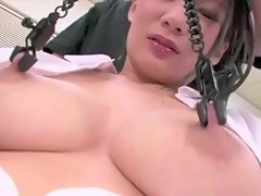 Her Big Nipples Get Milked And Clamped!!!!!!!