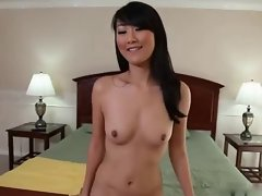 Asian nympho licks and bangs white prick and swallows load