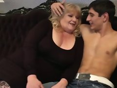 Sexual Fatty Granny Seduces 19yo Man