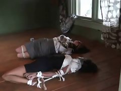 two wenches hogtied