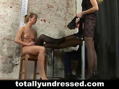 Kinky job interview for blondie secretary lassie