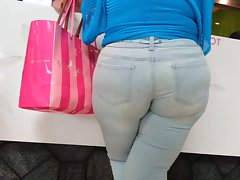 Attractive mature Juicy round ass In Jeans