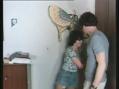 Desperate Dirty wife Dumb Husband Tempting Affair with Neighbour
