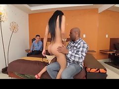 Big naughty bum white shemale gets the BBC #2
