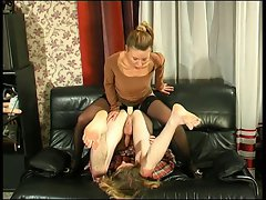 Slutty russian Blond with Strapon 3