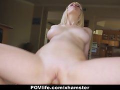 POVLife - Kinky Blond Cherry Torn Banged on Camera