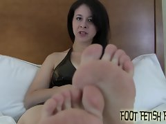You love my nice looking petite feet, don't you