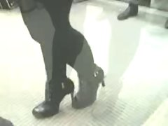 High Heel Boots Lace up Candid