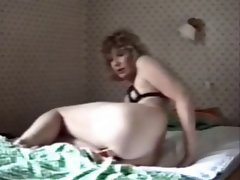 Excellent stepmom masturbation caught by hidden cam