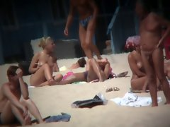 Spying on Bare Legal teens on the Beach