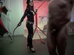 tempting whipping from luscious uniformed mistress