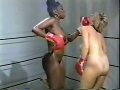 Retro Interracial Nude Boxing