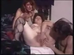 Submissive granny used by lecher couple. Amateur Elder