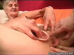 Granny Banged As Stud Play With Her Dentures
