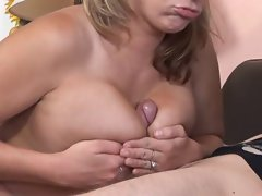 Yummy blondeNikki Sexx can't miss chance to ask her lover to practise in the milky way