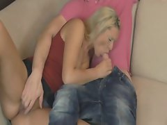 Better half caresses and gets banged by husband's best friend