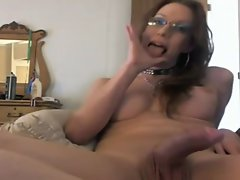 Huge shaft solo shemale wanking
