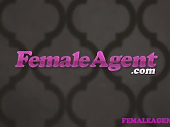 FemaleAgent Beauteous bisexual light-haired seduces sensual agent