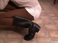 Rubber Boots in Kitchen