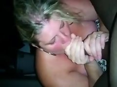 Married white Obese strokes black shaft