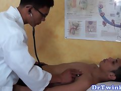 Enema fetish ethnic doctor stimulates clients naughty ass
