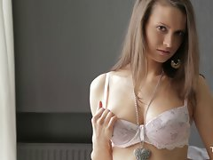 Attractive Nika plays with herself